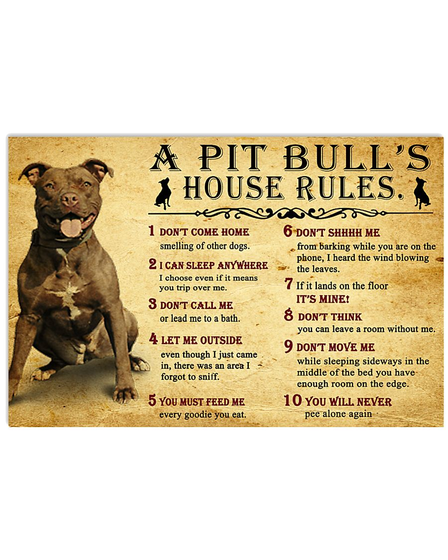 Pit Bull House Rules 17x11 Poster