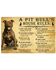 Pit Bull House Rules 17x11 Poster front
