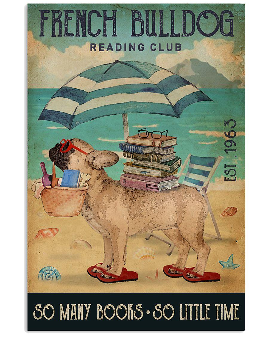 Beach Reading Club So Many Books French Bulldog 11x17 Poster
