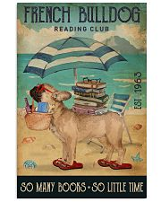 Beach Reading Club So Many Books French Bulldog 11x17 Poster front
