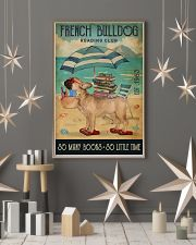 Beach Reading Club So Many Books French Bulldog 11x17 Poster lifestyle-holiday-poster-1