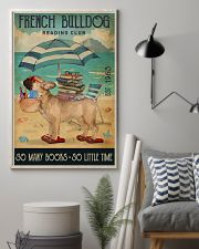 Beach Reading Club So Many Books French Bulldog 11x17 Poster lifestyle-poster-1