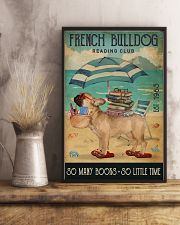 Beach Reading Club So Many Books French Bulldog 11x17 Poster lifestyle-poster-3