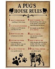 A Pug House Rules 11x17 Poster front