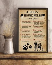 A Pug House Rules 11x17 Poster lifestyle-poster-3