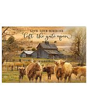 Highland Cattle Let The Gate Open 24x16 Poster front