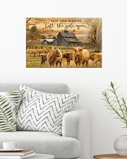 Highland Cattle Let The Gate Open 24x16 Poster poster-landscape-24x16-lifestyle-01