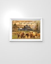 Highland Cattle Let The Gate Open 24x16 Poster poster-landscape-24x16-lifestyle-02