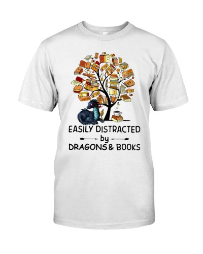 Easily Distracted Tree Book And Dragon