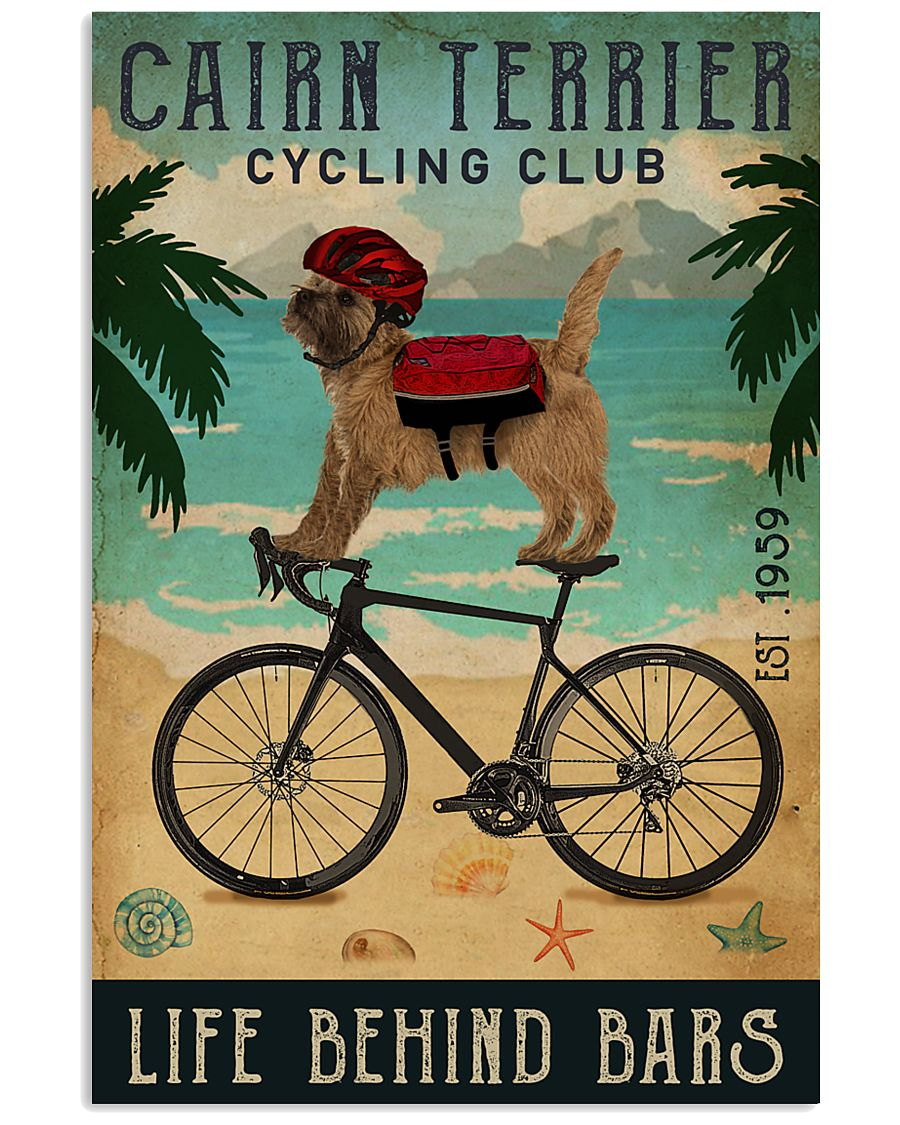 Cycling Club Cairn Terrier  11x17 Poster