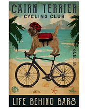Cycling Club Cairn Terrier  11x17 Poster front