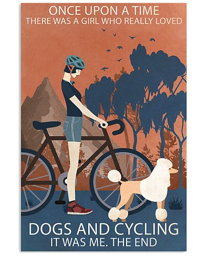 Vintage Girl Once Upon A Time Poodle And Cycling