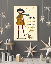Autumn Girl Life Is Better Dog Book 11x17 Poster lifestyle-holiday-poster-1