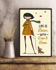 Autumn Girl Life Is Better Dog Book 11x17 Poster lifestyle-poster-3