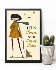 Autumn Girl Life Is Better Dog Book 11x17 Poster lifestyle-poster-8