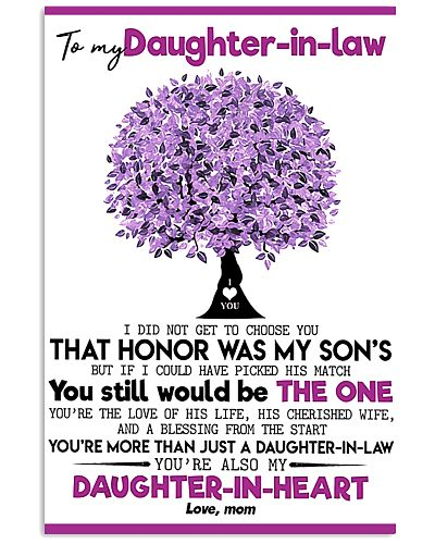 To My Daughter In Law Mom Heart