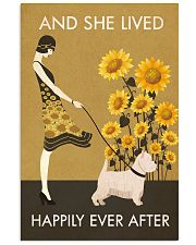 Sunflower Vintage Girl Lived Happily Westie 11x17 Poster front