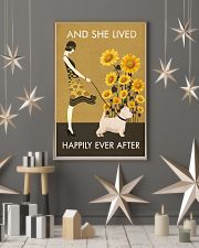 Sunflower Vintage Girl Lived Happily Westie 11x17 Poster lifestyle-holiday-poster-1