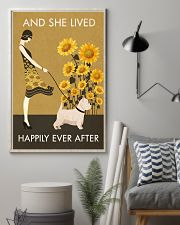 Sunflower Vintage Girl Lived Happily Westie 11x17 Poster lifestyle-poster-1