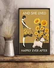 Sunflower Vintage Girl Lived Happily Westie 11x17 Poster lifestyle-poster-3