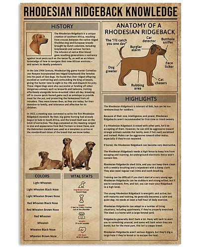 Rhodesian Ridgeback Knowledge Dog