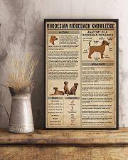 Rhodesian Ridgeback Knowledge Dog 11x17 Poster lifestyle-poster-3