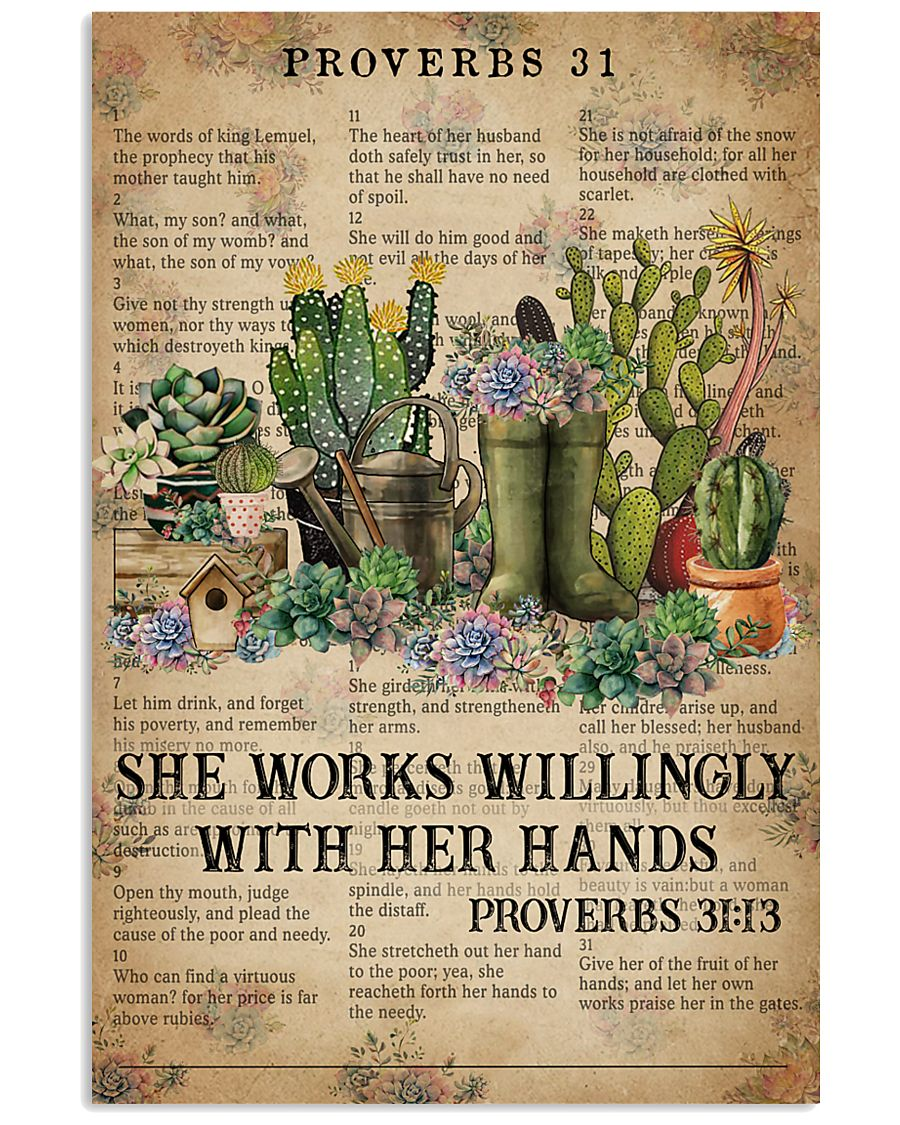 Catchphrase Works Willingly With Hand Succulent 11x17 Poster