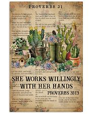 Catchphrase Works Willingly With Hand Succulent 11x17 Poster front