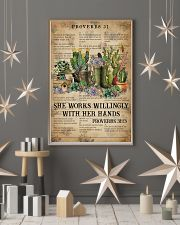 Catchphrase Works Willingly With Hand Succulent 11x17 Poster lifestyle-holiday-poster-1