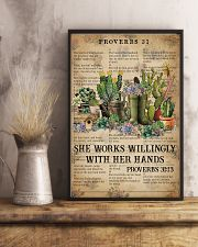 Catchphrase Works Willingly With Hand Succulent 11x17 Poster lifestyle-poster-3