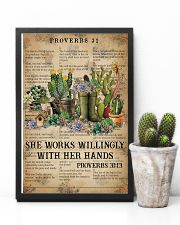 Catchphrase Works Willingly With Hand Succulent 11x17 Poster lifestyle-poster-8