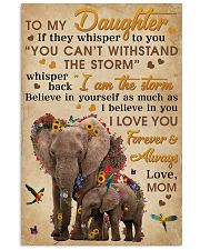 Mom To Daughter I Am The Storm Elephant 11x17 Poster front