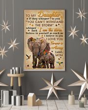 Mom To Daughter I Am The Storm Elephant 11x17 Poster lifestyle-holiday-poster-1