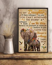 Mom To Daughter I Am The Storm Elephant 11x17 Poster lifestyle-poster-3