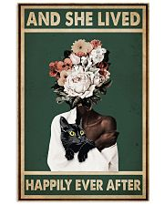 Retro Teal Live Happily Ever After By Black Cat  11x17 Poster front