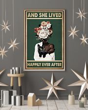 Retro Teal Live Happily Ever After By Black Cat  11x17 Poster lifestyle-holiday-poster-1