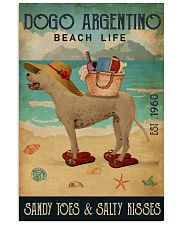Beach Life Sandy Toes Dogo Argentino 11x17 Poster front