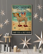 Beach Life Sandy Toes Dogo Argentino 11x17 Poster lifestyle-holiday-poster-1