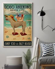 Beach Life Sandy Toes Dogo Argentino 11x17 Poster lifestyle-poster-1