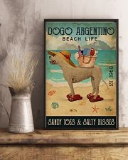 Beach Life Sandy Toes Dogo Argentino 11x17 Poster lifestyle-poster-3