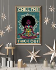 Retro Chill The Black Girl Yoga 11x17 Poster lifestyle-holiday-poster-1