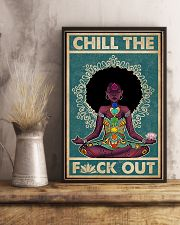 Retro Chill The Black Girl Yoga 11x17 Poster lifestyle-poster-3