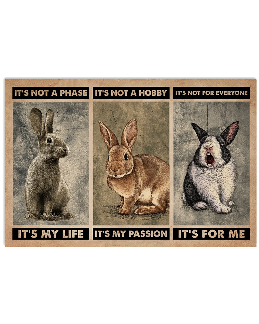 Rabbit It's Not A Phase 24x16 Poster