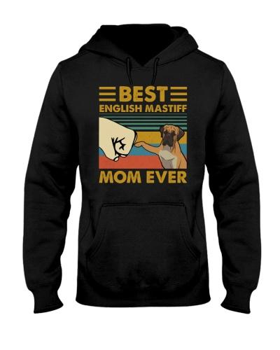 Retro Blue Best English Mastiff Mom Ever