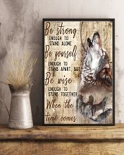 Be Strong To Enough Stand Alone Wolf 11x17 Poster lifestyle-poster-3