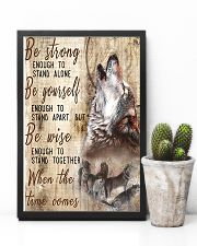 Be Strong To Enough Stand Alone Wolf 11x17 Poster lifestyle-poster-8