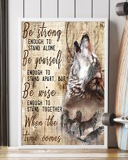 Be Strong To Enough Stand Alone Wolf 16x24 Poster lifestyle-poster-4