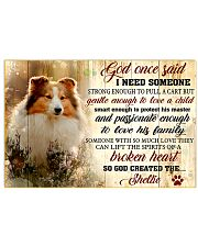 God Once Said Sheltie Dog 17x11 Poster front