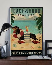 Vintage Beach Cocktail Life Dachshund 11x17 Poster lifestyle-poster-2