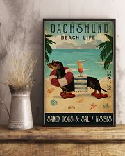 Vintage Beach Cocktail Life Dachshund 11x17 Poster lifestyle-poster-3